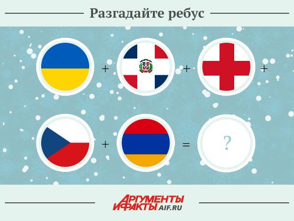 По первым буквам названий стран флаги