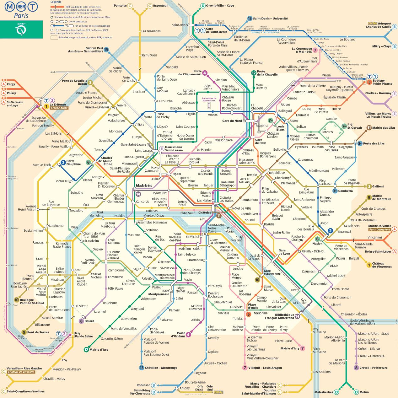 Схема метро подземная