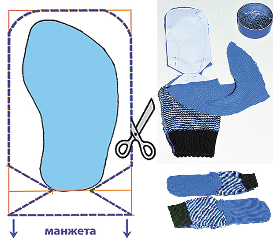 Пошив носков своими руками 89