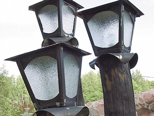 Как сделать уличные светильники на даче своими руками