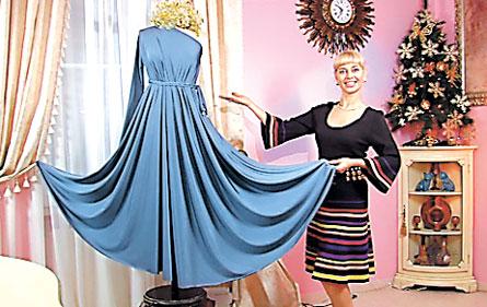 платье фиолетовое с воланами