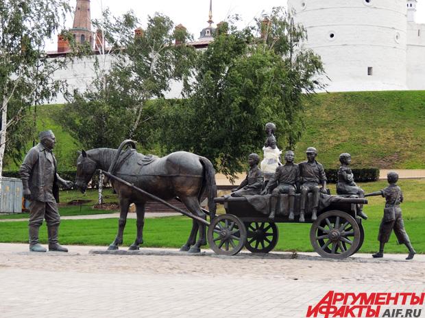 Памятник Галимзянову в центре Казани