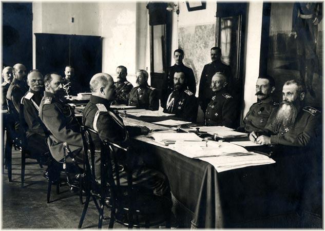 Брусилов на совещании у Николая II, апрель 1916 года