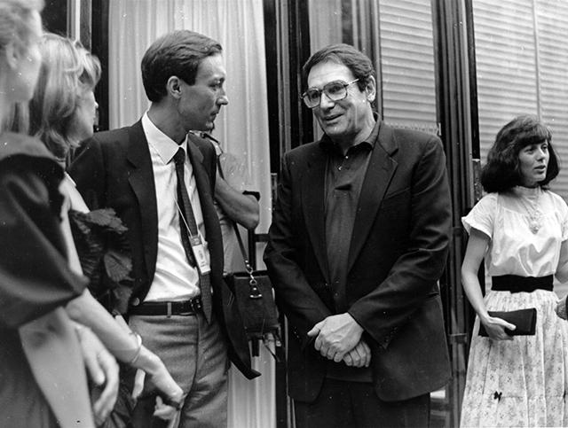 Актер Олег Янковский и Робер Оссейн на 14-м Московском кинофестивале, 1985 г